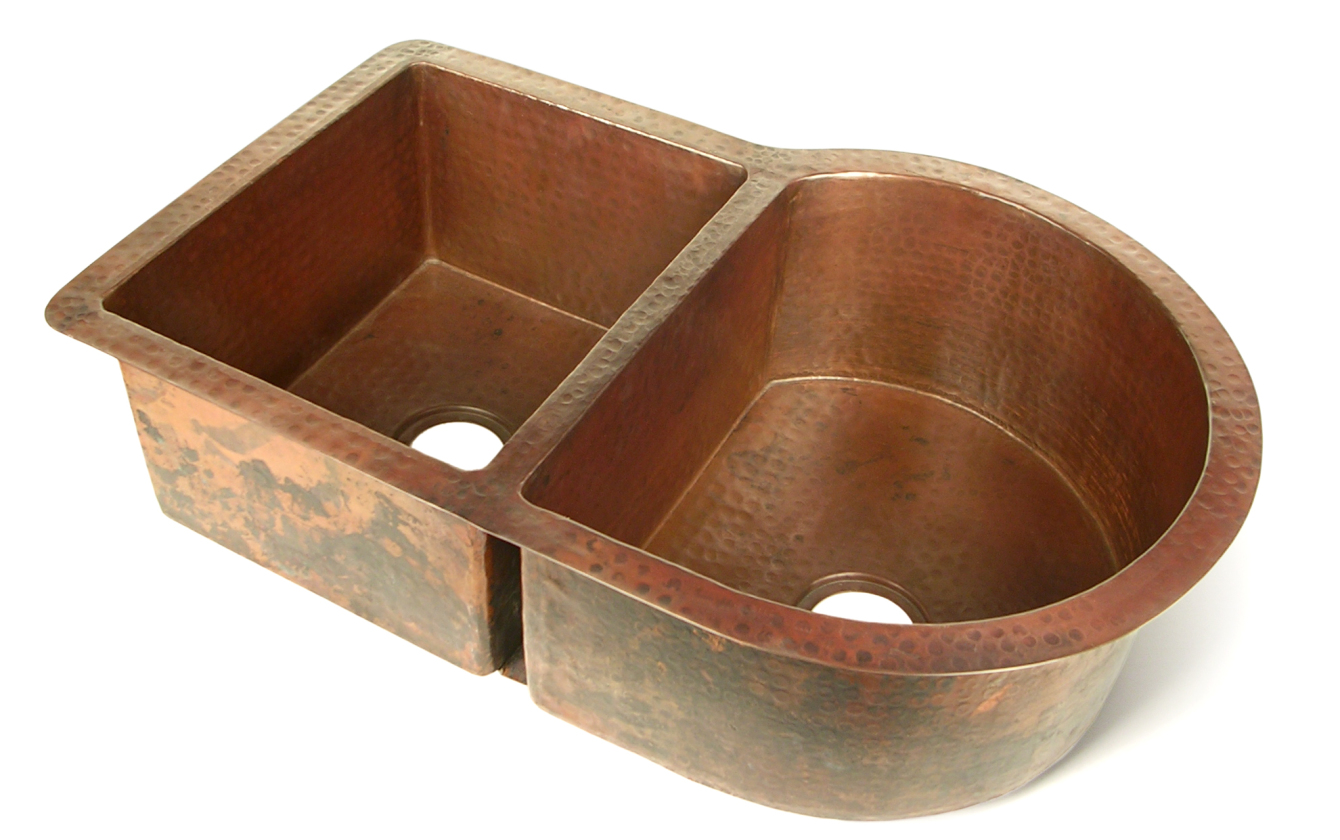 nautilus single double well copper kitchen sink