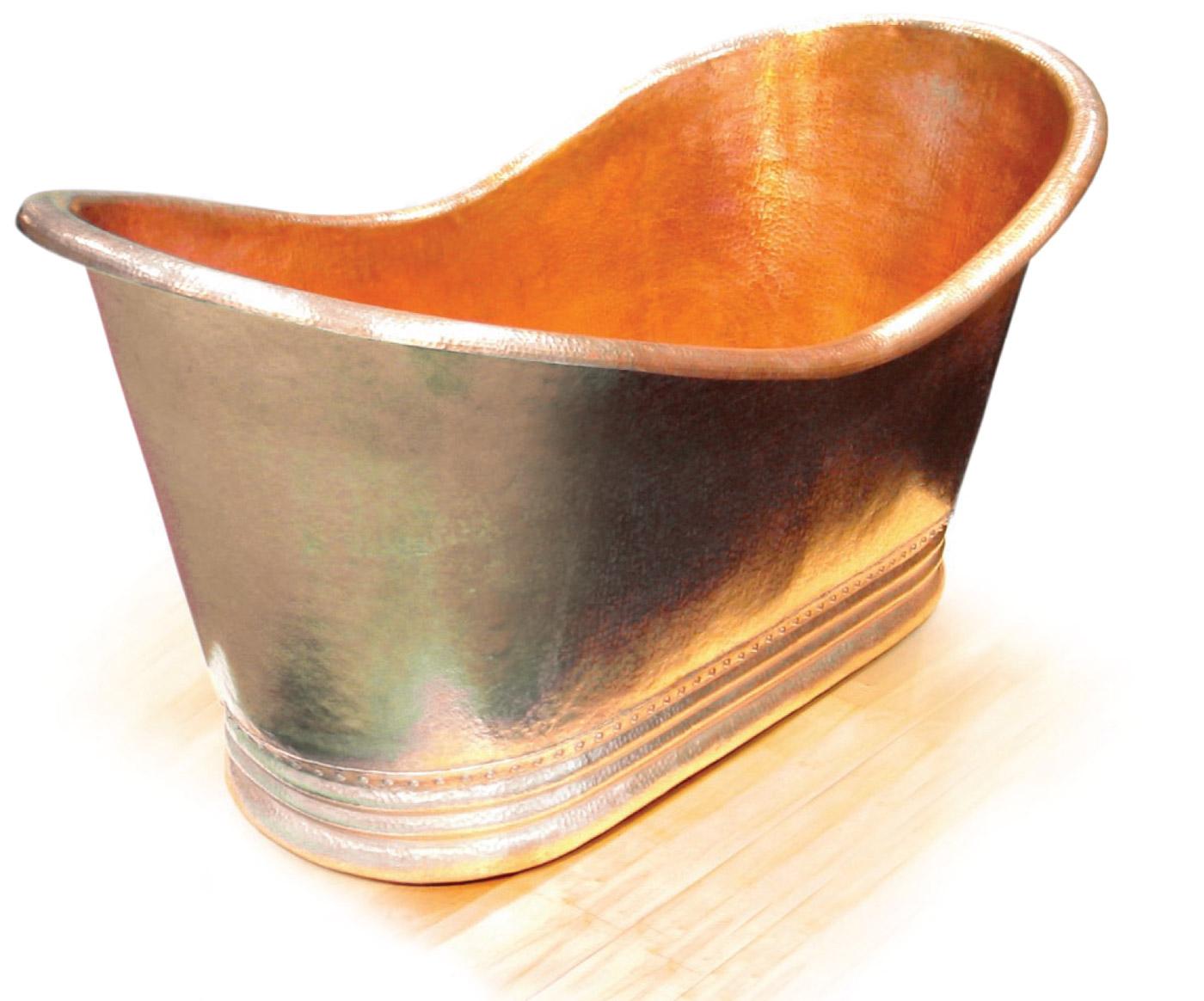 Juliana Free Standing Copper Bathtub