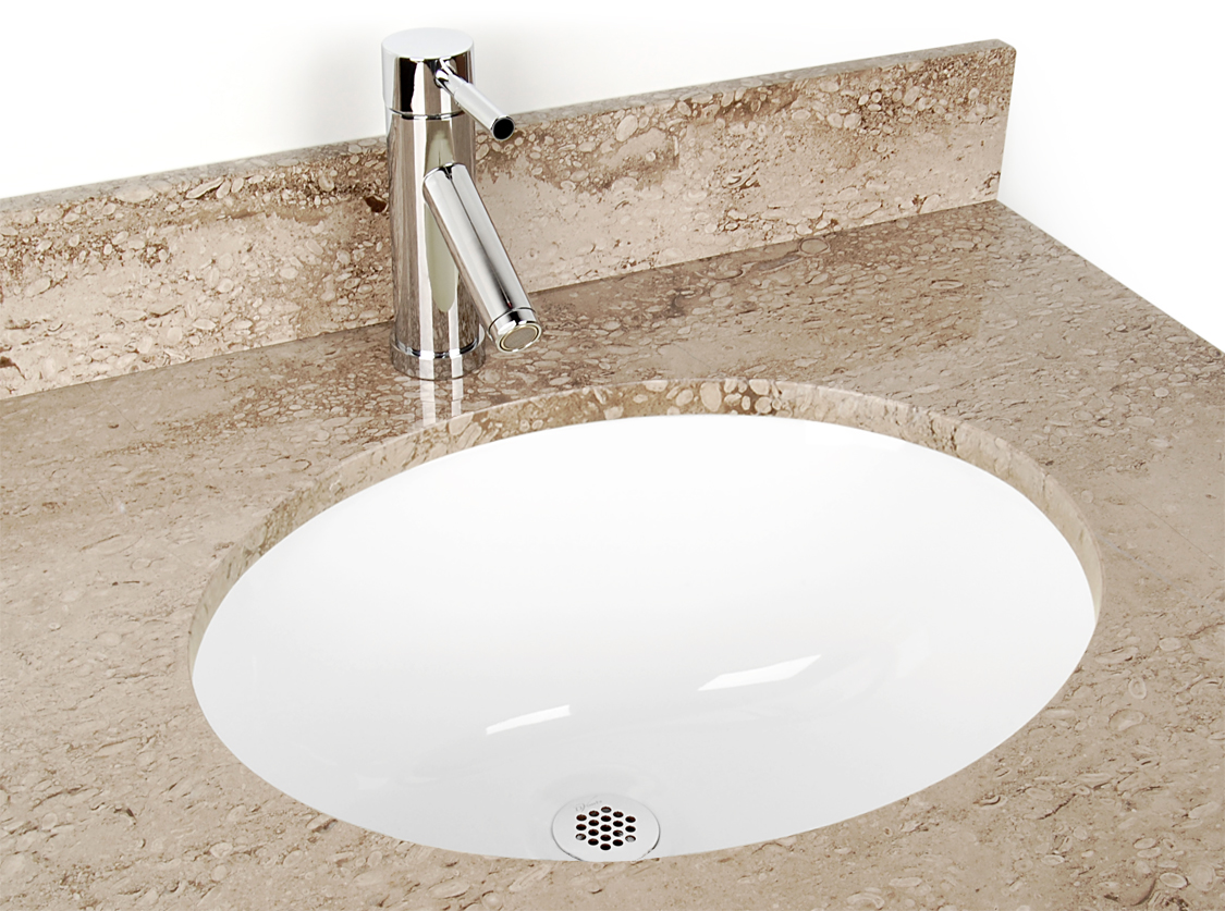 Oval Undermount Vitreous China Sink